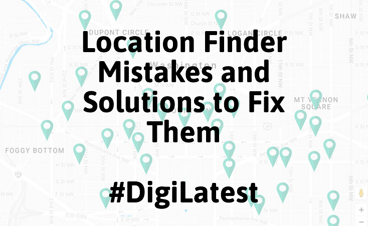 Location Finder Mistakes