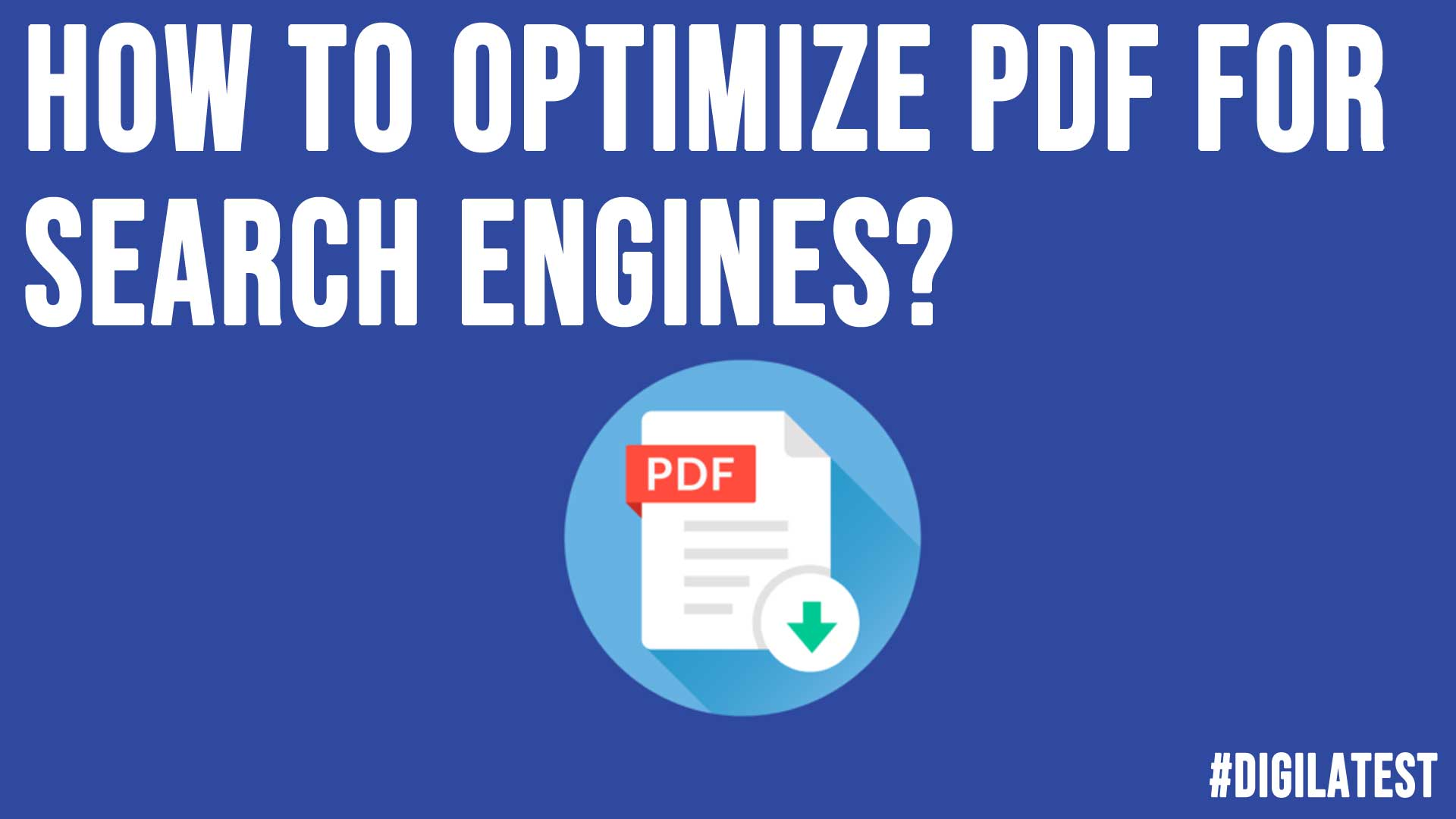 How to Optimize PDF for Search Engines