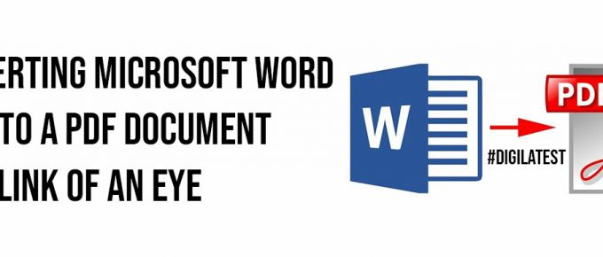 Converting Microsoft Word Files To A PDF Document In A Blink Of An Eye